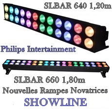 RAMPES LED Philips SHOWLINE SL BAR 620 - 640 - 660 RGBCW
